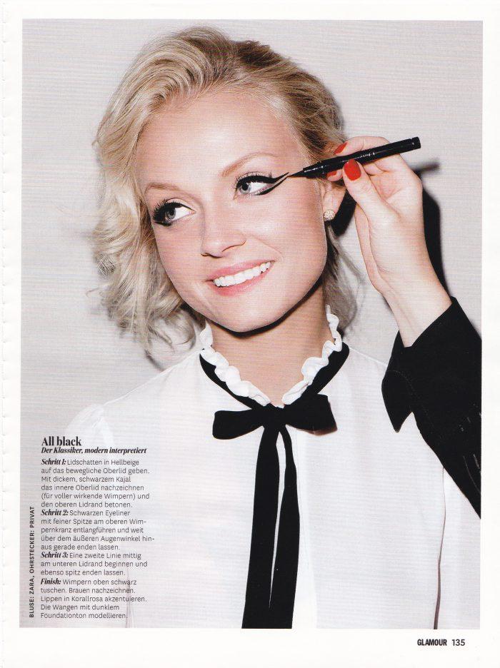 glamour zeitschrift beauty makeup referenz