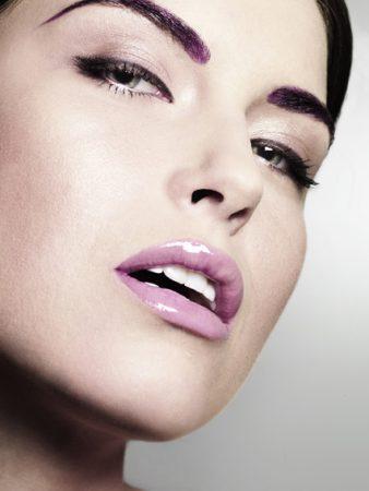 lila makeup beauty referenz